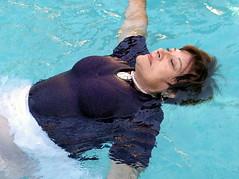 Easter relaxation (clarkfred33) Tags: water swim pool swimmingpool float wethair wetfun wetadventure welook easter relax senior seniorfun wetwoman wetblouse pleasure trashthedress ttd