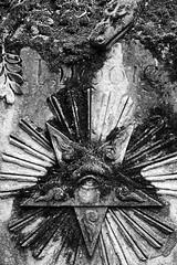 Illuminatus!? ;) (I bass therefore I am) Tags: bw blackandwhite samyang pentax k3 cemetery