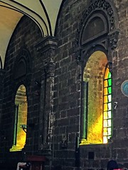 Come into the light (Lens_sky05) Tags: perspective light oldchurch architecture old windows stainedglass