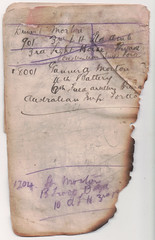 Notes 9 - Addresses (wheresshelly) Tags: ww1 wwi world war 1 australia gallipoli egypt military australian 4th field ambulance anzac morton wilfred