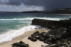 Bamaluz Bay, St Ives, Cornwall (Neil Schofield) Tags: bamaluz stives cornwall beach seaside storm wind squall leica x2