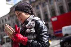 Red Gloves (Michael Goldrei (microsketch)) Tags: leicam england street avril 35mm pancras red photos apr photographer london st photography x 17 photo mp leather king's gloves leicacamera european asph woman kx saint phone cross king kings mp240 2017 35 leicamtyp240 typ typ240 240 summilux leicalovers leica uk europe 14 april