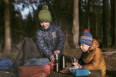 let's have a cuppa tea (Khuroshvili Ilya) Tags: people portrait boys kids face forest spring picnic break sunset lights smile backpack tea outdoor krasnogorsk halt camp thermos