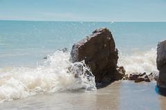 DSC_7424 (jonnyherb) Tags: water splash beach lake ontario lakeerie wave waves droplets waterdroplets clay impact
