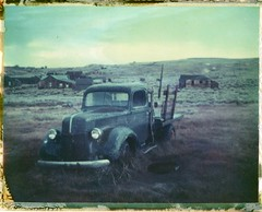 Bodie#4 (Andrew Bartram (WarboysSnapper)) Tags: polaroid 669 100packfilm packfilm expired bodie statepark 250landcamera instantphotography instant instantfilm instantpryme snapitseeit believeinfilm usa roadtrip california truck ghosttown