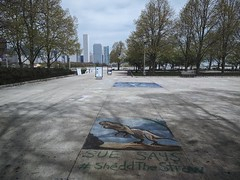 Drawing (ancientlives) Tags: chicago illinois usa lakefronttrail walking streetphotography bluesky clouds tuesday april 2017 spring warm lakemichigan lake sheddaquarium art science protest earthday