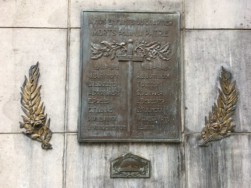WWI & WWII Memorial plaque, Brussels