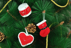 Adornos navideños (La Borda del Crochet) Tags: navidad navideño crochet ganchillo handmade drops adorno algodón