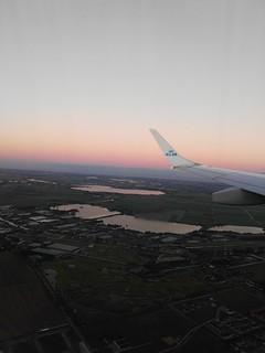 Landing in Amsterdam Schiphol