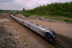 Spinning the Charger (Jeff Carlson_82) Tags: amtrak amtk sc44 charger siemens kc mo missouri bnjunction bnjct wye turning riverrunner test 4611 kansascity train railfan railroad railway