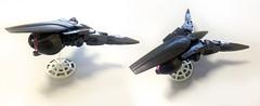 Alien Scoutship (Ballom Nom Nom) Tags: bionicle lego alien spaceship black