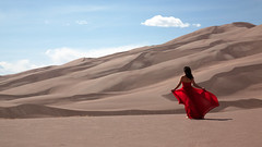 Life (OneLifeOnEarth) Tags: onelifeonearth colorado greatsanddunes girl red throughherlens mylife mythoughts mywords myheart