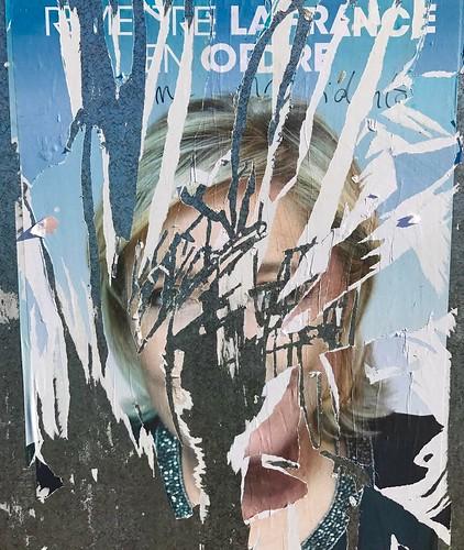 C'était son image après la fois #marinelepen #stoprasicm #noFN #afichespoliticos #posters #antifascist #paris #france #noLePen #NiLePenNiMacron #egratignure #affiche #cartel #affichepolitique #posters