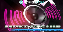 Subtractive Drum & Bass Volume 3 (Loopmasters) Tags: drums loops electro samples edm dubstep royaltyfree electrohouse loopmasters drumstep