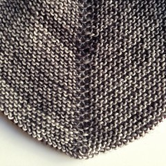 Close-up of spine. (jenschuetz) Tags: wool garter grey diy knitting pattern stitch knit wrap merino yarn variegated shawl crafty increase skein fingering triangular intheround viajante madelinetosh ravelry uploaded:by=flickrmobile flickriosapp:filter=nofilter