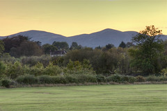 Malvern Hills seen from Worcester riverside (AJK Photography) Tags: hdr worcester malvernhills