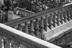 BW Series I (Alex Basalobre) Tags: barcelona park blackandwhite black stairs contrast shadows
