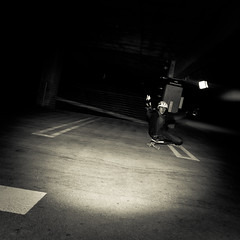 Garage Fun (Tj Cowboy) Tags: california street people sport night nikon skateboarding sandiego may downhill skate longboard d90 2013 nikond90