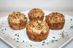 39 - Cabanossi Feta Muffins - Seitenansicht / Side view (JaBB) Tags: food cooking kitchen cheese dinner recipe lunch muffins baking milk essen