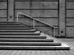 Toronto 4..........Explore (henryhill125) Tags: city blackandwhite bw toronto ontario canada stairs downtown steps explore harbourfront rogerscentre