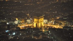 Arc de Triomphe from the Summit, Eiffel Tower, Paris