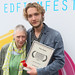 UWantMeToKillHim actor Toby Regbo  with a family member outside the Filmhouse