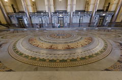 Minton Tile Floor (DaveParryphotography) Tags: liverpool fisheye limestreet merseyside stgeorgeshall nikkor105mmf28fisheye nikkond7000 stgeorgesliverpool