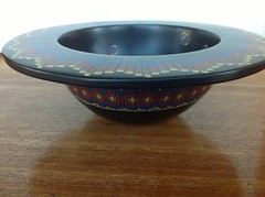 Polymer clay bowl (Wendy Jorre de St Jorre) Tags: vessel bowl clay bargello poly polymer millefiori polyclay