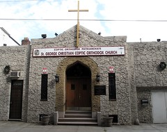 St. George Christian Coptic Orthodox Church (neppanen) Tags: usa newyork church america christian queens lic orthodox longislandcity coptic kirkko discounterintelligence sampen