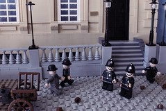 Hello, Hello, whats going on here? (peggyjdb) Tags: london club lego police travelers metropolitanpolice