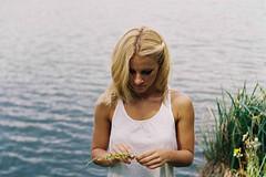 F6870036-2 (danischrott) Tags: portrait people lake plant flower tree film feet nature girl field forest foot boat berry dof hand natural leg pentacon f18 praktica depth pécs rossmann tumblr vsco