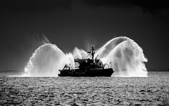 fireboat! (alphacenturia) Tags: vacation bw toronto ontario canada reflection eye love water silhouette reflections dark underpass fire lights boat frozen mac nikon kiss ray view bokeh infinity tranquility canadian spray outoffocus cne pump airshow fantasy strip moonlight generations lakeontario proposal pressure caress waterdragon darkside fireboat bold propose highspeed undressing yyz climax iphone loveboat pumper firerescue williamlyonmackenzie undressed torontoskyline nostalgique marriageproposal 6s torontoboatshow macbook torontofire blackwhitephotos graphiccomposition hyperfocus fireonwater wmlyonmackenzie sapiosexual williamlyonmackenziefireboat torontofiremarineunit romanticproposal ontariofire apodyopsis firemarine gymnophoria