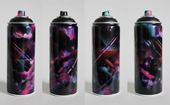 Montana Black Refuz Spray Can(more cloud experimenting) (theartistbeforeyou) Tags: pink blue streetart abstract colors modern clouds graffiti cool montana colorful purple space dramatic urbanart spraypaint recycle airbrush spraycan reuse coolcolors montanagold refuz