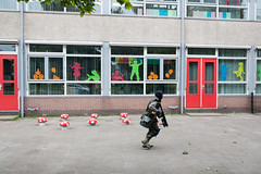 (Peter de Krom) Tags: school boy playground mushrooms war gun games camouflage hvh