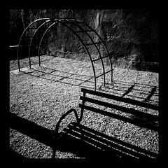 park (#mr. X) Tags: park shadow blackandwhite bench climb junglegym flickrandroidapp:filter=none
