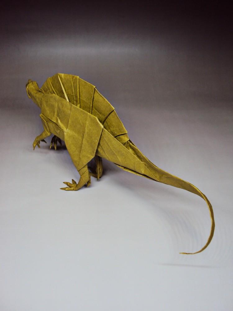 Spinosaurus Rydos Tags Art Origami Fold Folding Pape Satoshi Kamiya Kamiyasatoshi Hanji