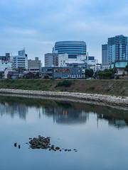 PhoTones Works #3636 (TAKUMA KIMURA) Tags: city building nature water river landscapes town view 自然 風景 kimura 水 街 ビル em1 景色 町 川 takuma 琢磨 木村 河川 photones