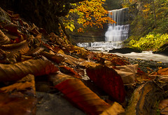 The Bahar Preserve (Matt Champlin) Tags: autumn fall beautiful leaves canon perception natural hiking falls glen foliage waterfalls gorge angelfalls waterblur pristine 2013 carpentersfalls bearswampcreek