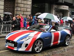 UK - London - City of London - Lord Mayor's Show 2013 - Union Jack Car (JulesFoto) Tags: uk england london procession pageant astonmartin cityoflondon vanquish unionjackcar lordmayorsshow2013