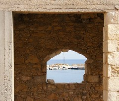 Framed within the frame (Jaedde & Sis) Tags: harbour framed bricks kreta greece crete kato galatas flickrchallengegroup flickrchallengewinner challengefactorywinner thechallengefactory herowinner pregamesweepwinner