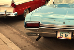 Light Blue Buick (andrea sighinolfi) Tags: california arizona usa chevrolet abandoned america buick 60s williams roadtrip cadillac sidewalk american 70s americana roadside fairlane