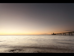The Last Sunset Of November (Lee Ratters) Tags: sunset canon bristol coast pier movement somerset l 1740mm channel clevedon 5dmk2