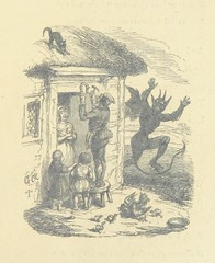 """British Library digitised image from page 19 of """"The Horse Shoe, the true legend of St. Dunstan and the Devil; showing how the horse shoe came to be a charm against witchcraft ... With illustrations drawn by G. Cruickshank, etc"""""""