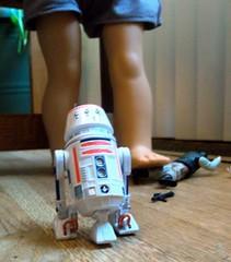 R5-D4 Flees the Carnage (atjoe1972) Tags: giant toys actionfigure rebel starwars doll chaos ag kit hasbro rebels americangirl agdoll kitkittredge atjoe1972