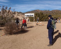 028 Done At Last (saschmitz_earthlink_net) Tags: california banner finish orienteering aguadulce vasquezrocks losangelescounty 2013 laoc losangelesorienteeringclub