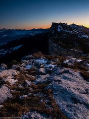 Dusk (Tristan VANDENBERGHE) Tags: mountain france alps night montagne alpes landscape dusk paysage crépuscule vercors nuit claix rhonealpes ramées