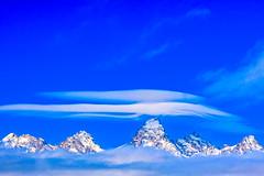 Tetons (The Noisy Plume) Tags: blue winter sky snow mountains rockies rockymountains tetons tetonrange