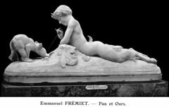 Emmanuel Frémiet (1824-1910) - Pan et Oursons (1870) (ketrin1407) Tags: bear sculpture male statue blackbackground nude 19thcentury pan marble reclining mythology satyr emmanuelfremiet fremiet