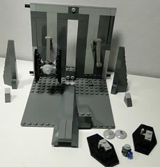 LEGO Mini TIE fighter hangar module (lingonfil) Tags: death star lego hangar wars tiefighter miniscale advancedtiefighter
