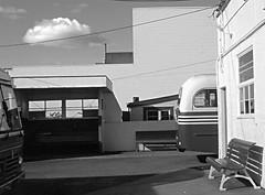 bus depot, 1988 (travelling-light) Tags: newzealand nelson motueka
